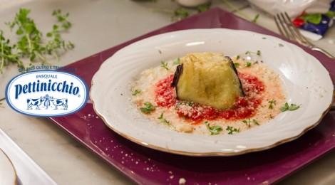 ricetta mozzarella fior di latte Pettinicchio, tortino di melanzane
