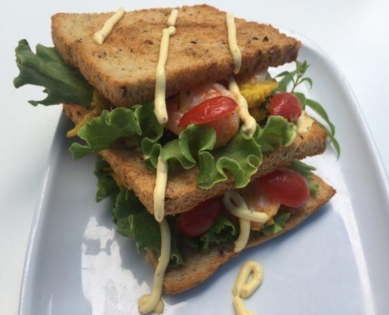 ricetta Morato Pane, sandwich gourmet con frittata ai gamberetti e menta, ricetta di marca Morato Pane, ricetta di Marca Frigo Magazine