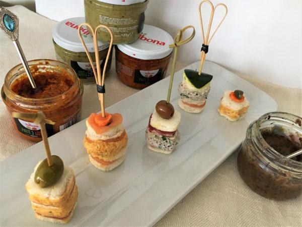 ricetta patè Valbona, canapé fantasia della scuola di cucina Atelier dei Sapori di Milano, ricetta di marca su Frigo Magazine