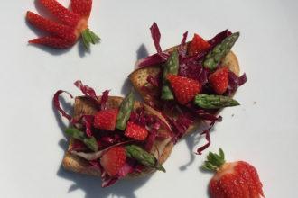 ricetta patè Valbona, bruschette primavera, scuola di cucina Tre Ville di Parma, ricetta di marca Frigo Magazine