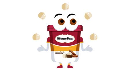 emoji Häagen-Dazs, gratis scaricabili da App Store