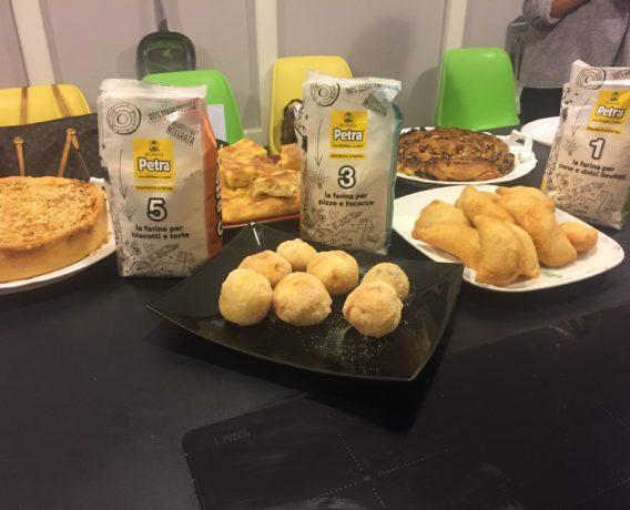 """ricetta Farina Petra, scuola di cucina Peccati di Gola di Bari, iniziativa """"A lezione di farina"""""""