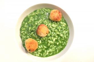 ricetta riso La Pila, risotto di terra con crocchette, ricetta della scuola di cucina Cucina & Friends di Milano, ricetta di marca Frigo Magazine