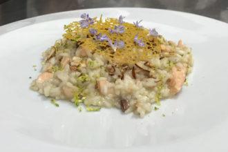 ricetta riso La Pila, risotto con trota, scuola di cucina Noi Chef di Latina, iniziativa #alezionediriso