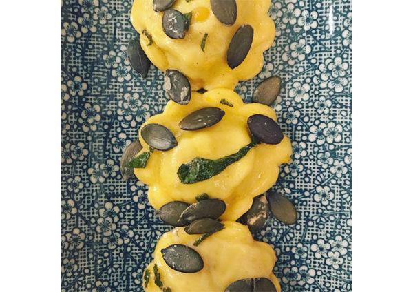 ricetta farina Petra: tortelli di zucca, Ricetta dal Corso di tecniche di base con Angela Maci, scuola di cucina Cookiamo di Treviso, #alezionedifarina