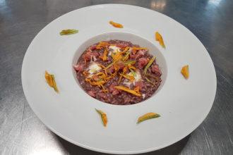 ricetta La Pila, aromatizzato ai mirtilli, ricetta della scuola di cucina Accademia Italia Cuochi, iniziativa #alezionedirisoclassico