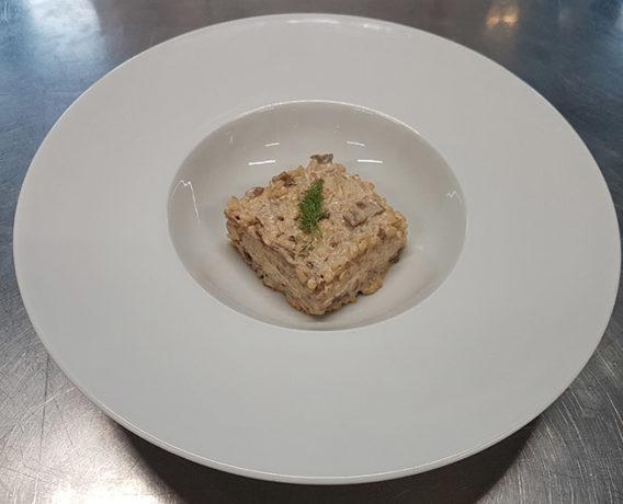 ricetta La Pila, riso al forte equilibrio, ricetta della scuola di cucina Accademia Italiana Chef, iniziativa #alezionedirisoclassico