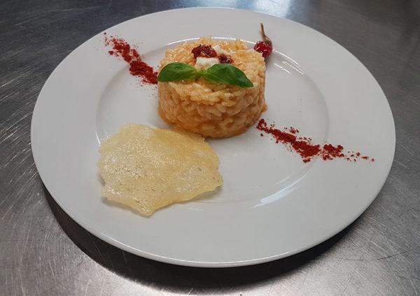 ricetta La Pila, risotto veloce con nduja e pinot bianco, ricetta della Accademia Italiana Chef, #alezionedirisoclassico