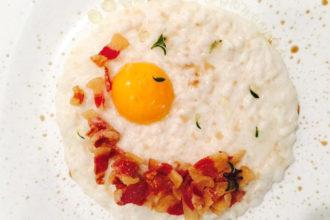 ricetta La Pila, carnaroli carbonara, ricetta Accademia Italiana Chef, iniziativa #alezionedirisoclassico