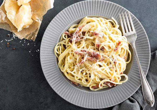 ricetta Carbonara, ricetta della tradizione gastronomica della regione Lazio, dalla scuola di cucina Mind di Roma.