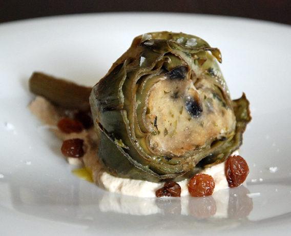 ricetta carciofo, ricetta della tradizione Lazio dalla scuola di cucina Burro & Bollicine di Latina