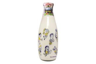 Enrico Macchiavello ha firmato la nuova bottiglia di latte della Centrale del latte di Torino